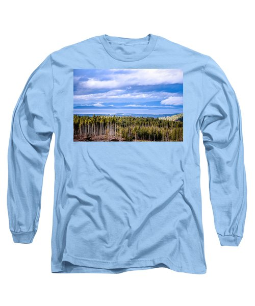 Johnstone Strait High Elevation View Long Sleeve T-Shirt