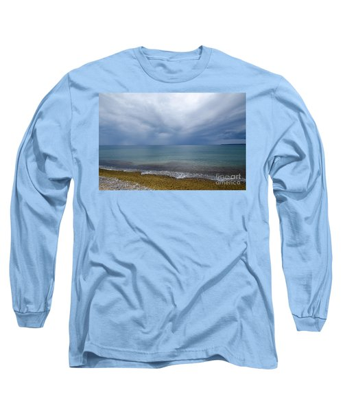 Long Sleeve T-Shirt featuring the photograph Bad Weather Approaching At The Coast by Kennerth and Birgitta Kullman