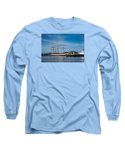 Rowing Past Balclutha And Steamship Eppleton Hall Long Sleeve T-Shirt