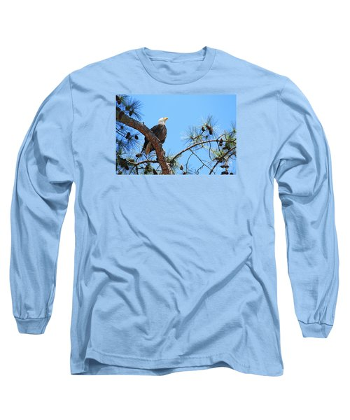 Long Sleeve T-Shirt featuring the photograph Bald Eagle by Geraldine DeBoer