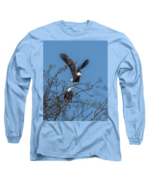 Bald Eagles Screaming Drb169 Long Sleeve T-Shirt