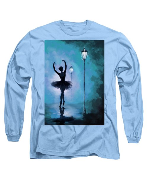 Ballet In The Night  Long Sleeve T-Shirt by Corporate Art Task Force