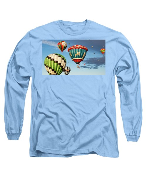 Long Sleeve T-Shirt featuring the photograph Balloons Away by Dave Files