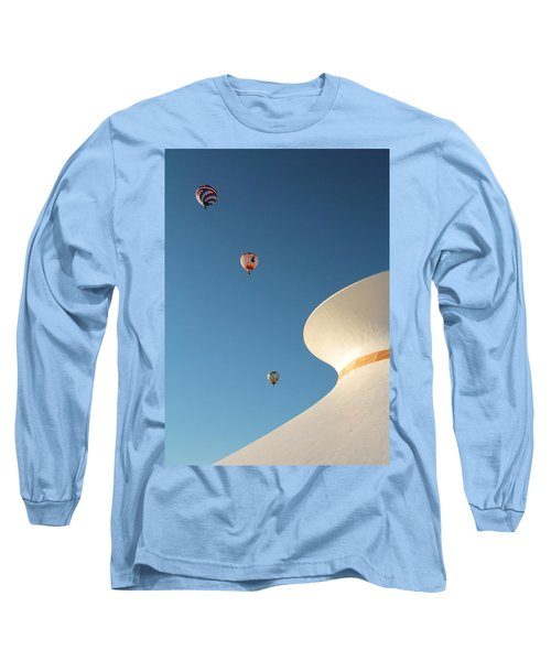 Balloons Race Over The Planetarium Long Sleeve T-Shirt