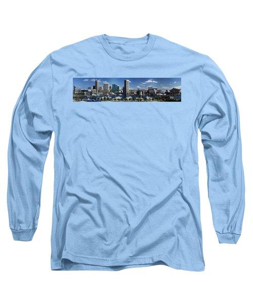 Baltimore Inner Harbor Panorama Long Sleeve T-Shirt