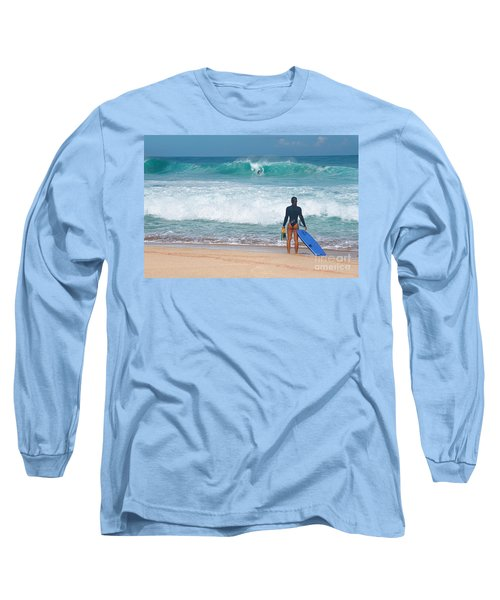 Long Sleeve T-Shirt featuring the photograph Banzai Pipeline Aqua Dream by Aloha Art