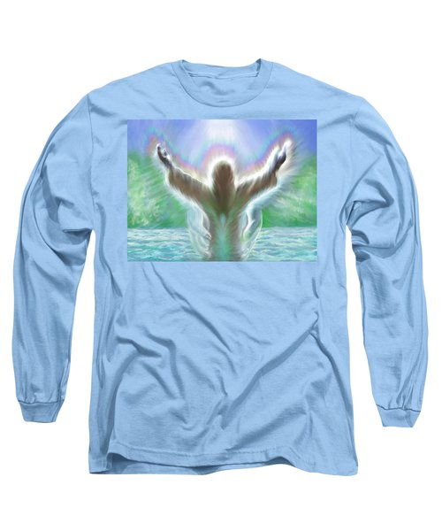 Baptism Of Yshuah Long Sleeve T-Shirt by Hidden  Mountain