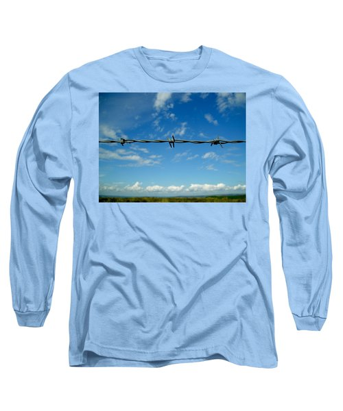 Long Sleeve T-Shirt featuring the photograph Barbed Sky by Nina Ficur Feenan