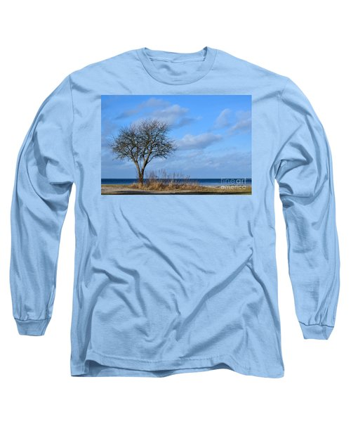 Long Sleeve T-Shirt featuring the photograph Bare Single Tree by Kennerth and Birgitta Kullman