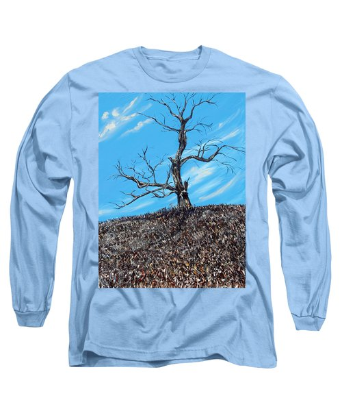 Long Sleeve T-Shirt featuring the painting Battle Scars by Meaghan Troup