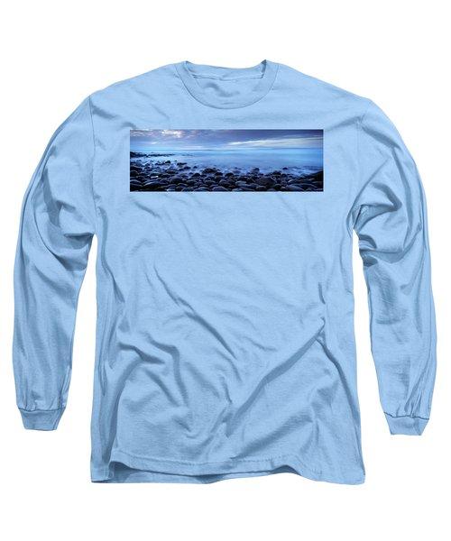 Beach At Dusk, Westward Ho, North Long Sleeve T-Shirt