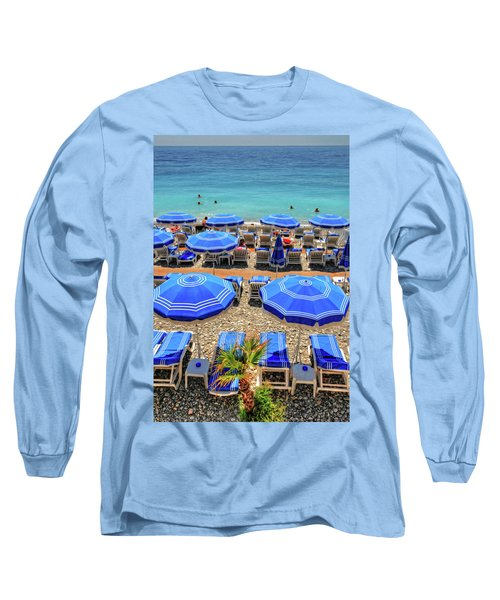 Beach At Nice France Long Sleeve T-Shirt