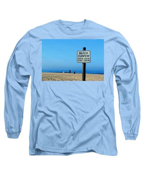 Beach Curfew Long Sleeve T-Shirt by Tammy Espino