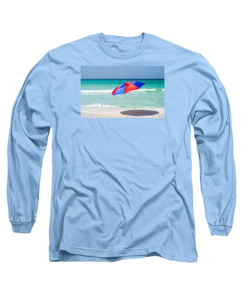 Beach Umbrella Long Sleeve T-Shirt by Shelby  Young