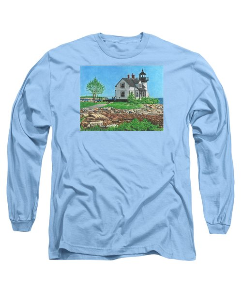 Long Sleeve T-Shirt featuring the drawing Beacon Of Hope by Troy Levesque