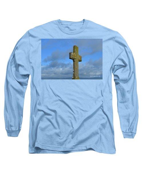 Beautiful Stone Cross In Ireland Long Sleeve T-Shirt by DejaVu Designs