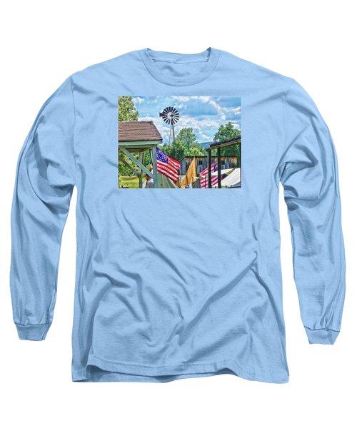 Bedford Village Pennsylvania Long Sleeve T-Shirt by Kathy Churchman