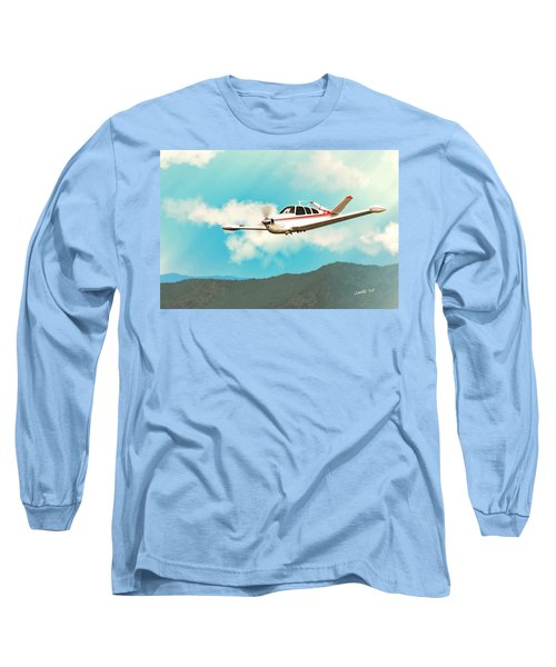 Beechcraft Bonanza V Tail Red Long Sleeve T-Shirt