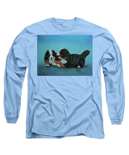 Bernese Mountain Puppies Long Sleeve T-Shirt