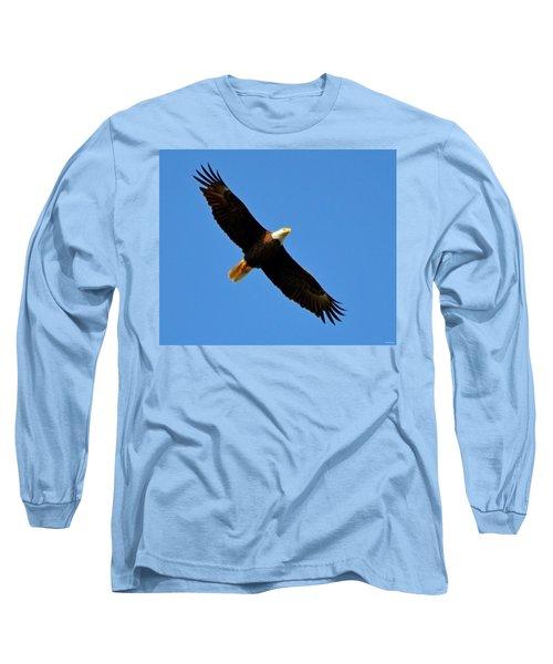 Best Bald Eagle On Blue Long Sleeve T-Shirt