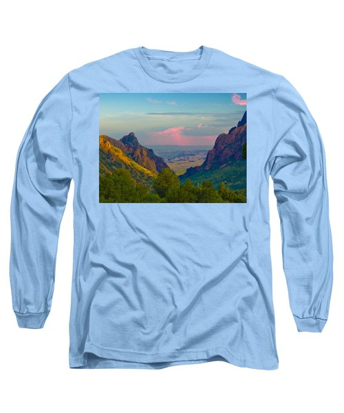 Big Bend Texas From The Chisos Mountain Lodge Long Sleeve T-Shirt
