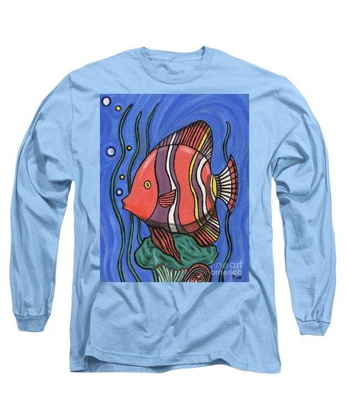 Big Fish Long Sleeve T-Shirt by Roz Abellera Art