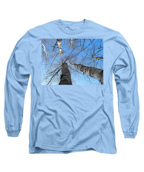 Birch Group In Winter Long Sleeve T-Shirt