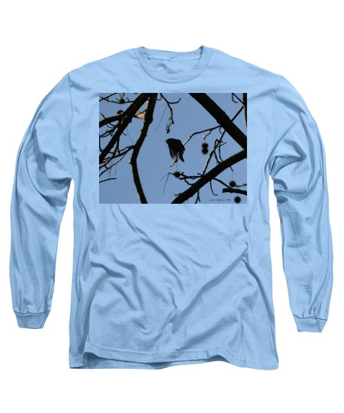 Long Sleeve T-Shirt featuring the photograph Bird In Flight by Tara Potts