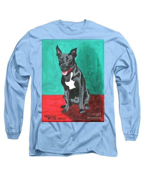 Black Pit Bull Terrier Long Sleeve T-Shirt