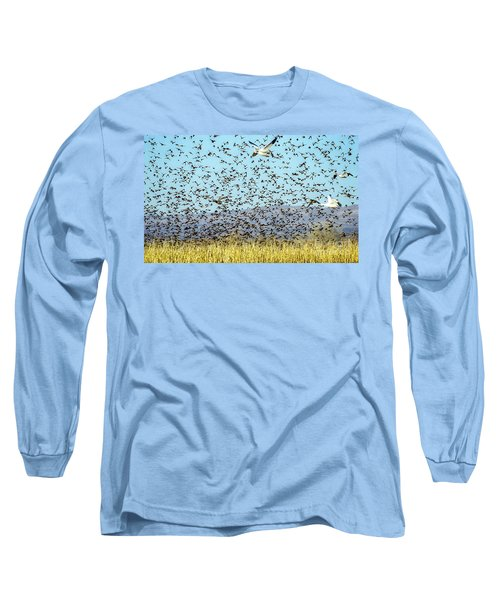 Blackbirds And Geese Long Sleeve T-Shirt