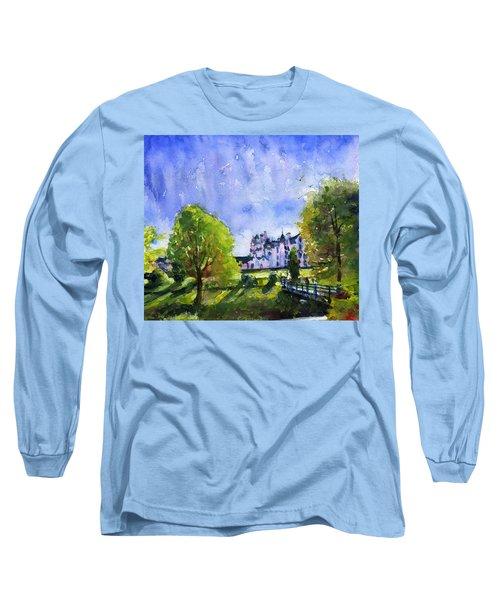 Blair Castle Bridge Scotland Long Sleeve T-Shirt by John D Benson