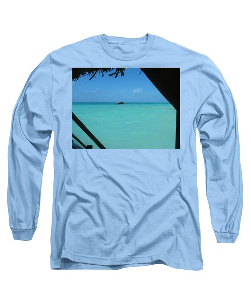 Blue And Green Long Sleeve T-Shirt by Photographic Arts And Design Studio