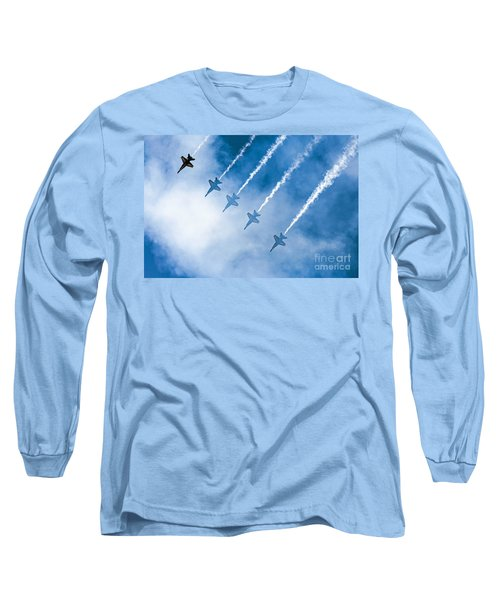 Long Sleeve T-Shirt featuring the photograph Blue Angels by Kate Brown