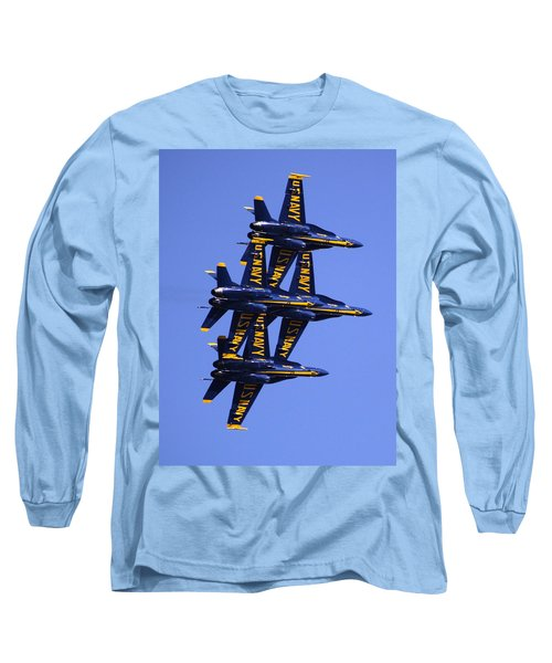 Blue Angels II Long Sleeve T-Shirt by Bill Gallagher