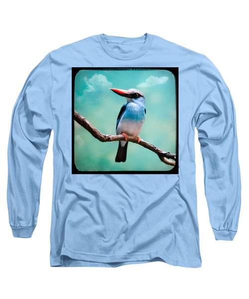 Long Sleeve T-Shirt featuring the photograph Blue Breasted Kingfisher by Gary Heller