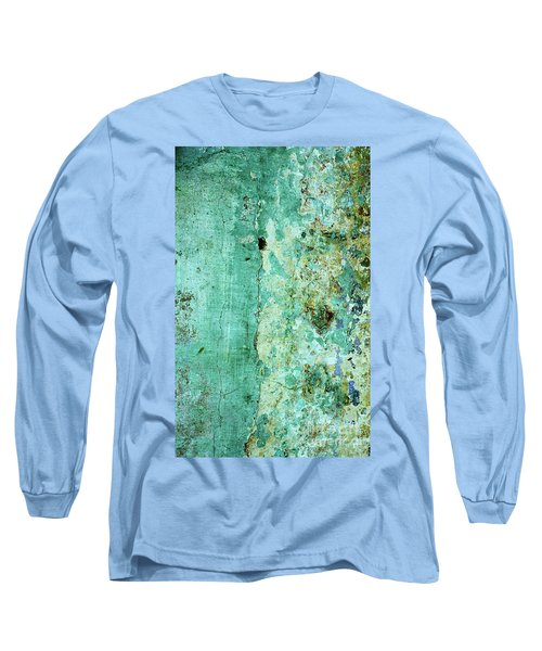 Blue Green Wall Long Sleeve T-Shirt
