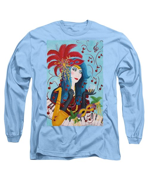 Blue Haired Lady Long Sleeve T-Shirt