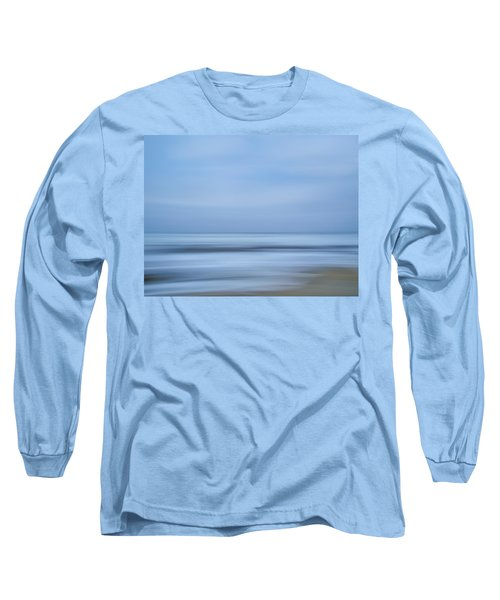 Blue Hour Beach Abstract Long Sleeve T-Shirt