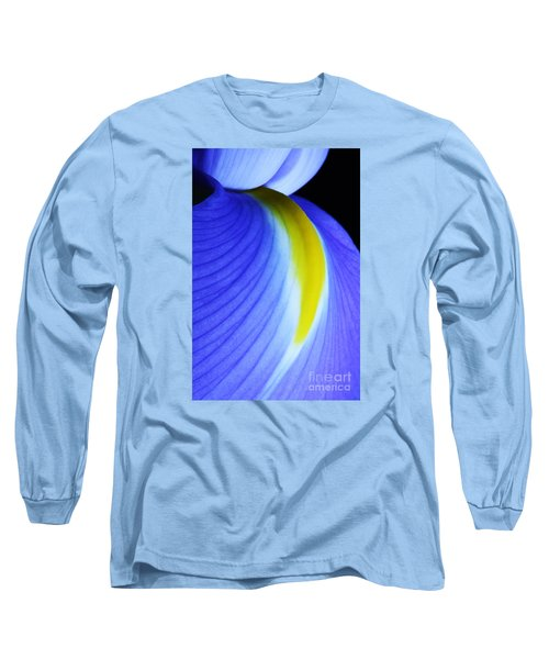 Long Sleeve T-Shirt featuring the photograph Blue by Judy Whitton
