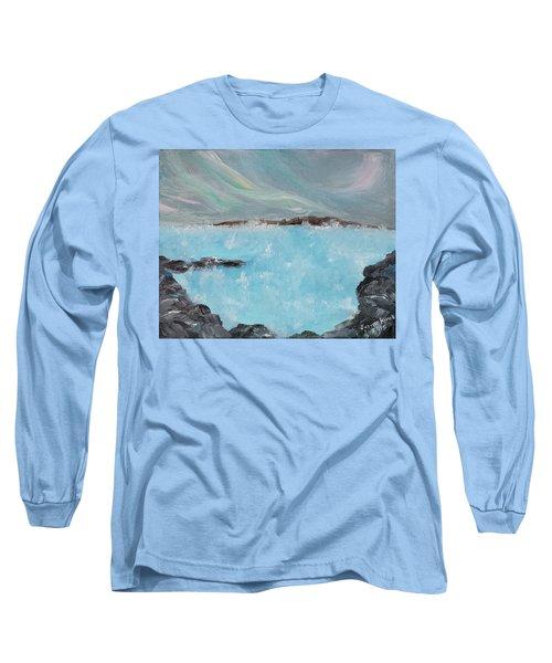 Blue Lagoon Iceland Long Sleeve T-Shirt by Judith Rhue