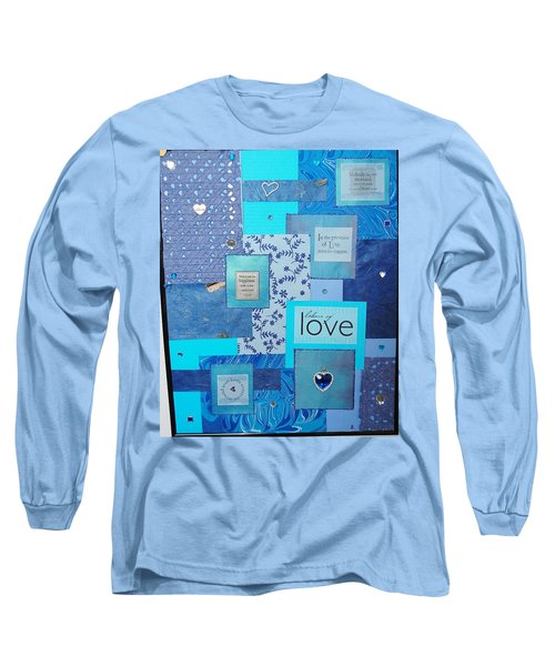 Blue Love Long Sleeve T-Shirt