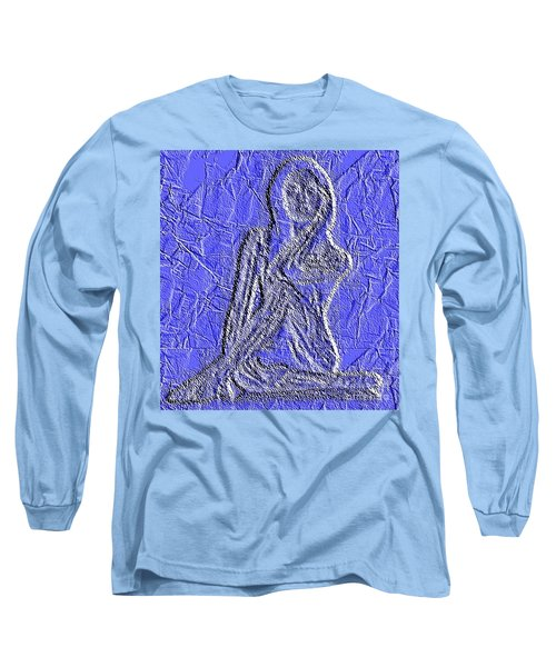 Blue Madonna Long Sleeve T-Shirt by PainterArtist FIN