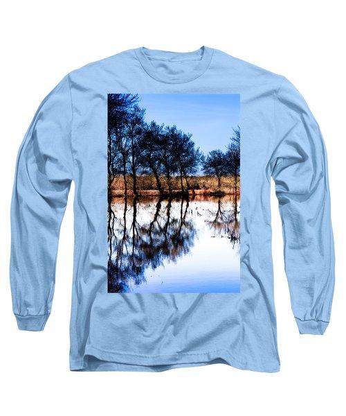 Blue Mirror Long Sleeve T-Shirt