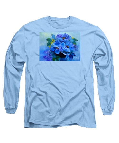 Blue Poppies Long Sleeve T-Shirt