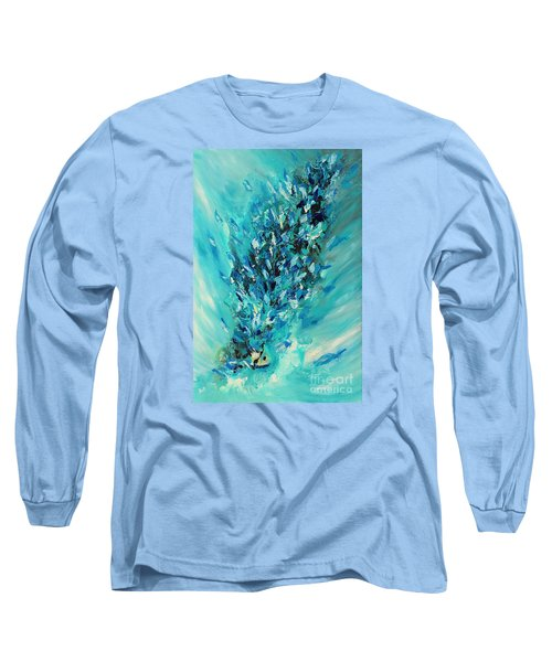 Blue Power Long Sleeve T-Shirt