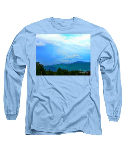 Long Sleeve T-Shirt featuring the photograph Blue Ridge Mountains by Judy Palkimas