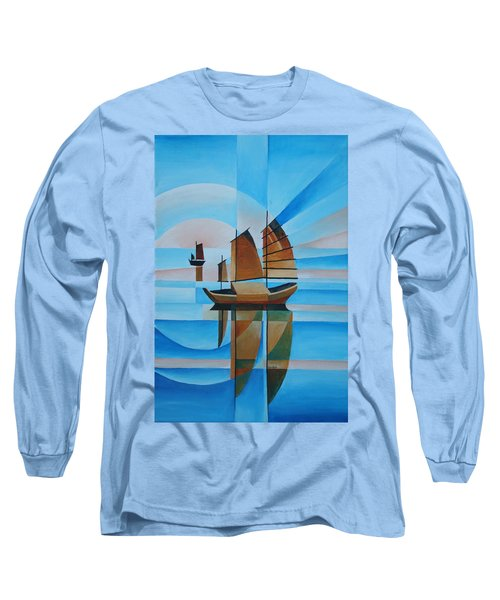 Blue Skies And Cerulean Seas Long Sleeve T-Shirt