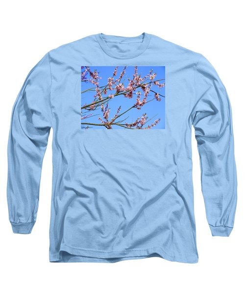 Blue Sky And Pink Blossom. Long Sleeve T-Shirt