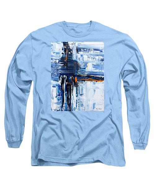 Long Sleeve T-Shirt featuring the painting Blue Thunder by Rebecca Davis