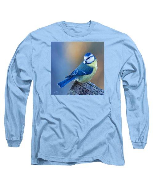 Blue Tit Looking Behind Long Sleeve T-Shirt